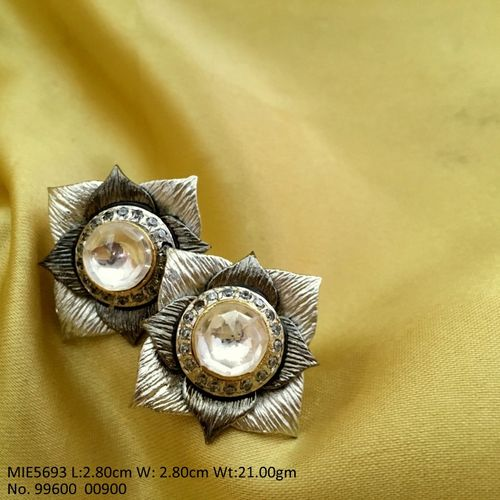 High quality Brass stud with Brass and Silver metal, and silver matt finish plating