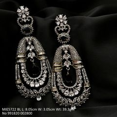 Beautiful American Diamond Dangler with an year warranty