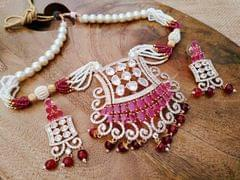 American Diamond Necklace set with an year warranty