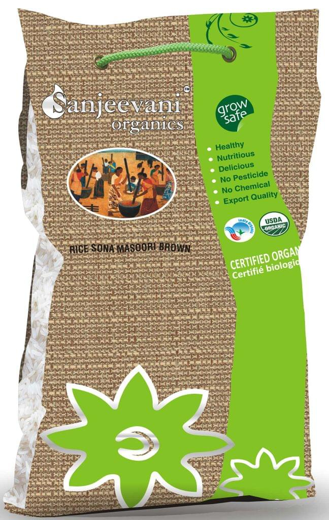 Organic Sona Masori Brown Rice 5000 Gms