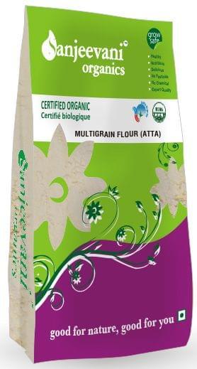 Organic Multigrain Flour (Atta) 500 Gms