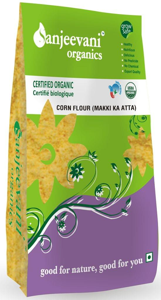 Organic Corn Flour (Makki Ka Atta) 500 Gms