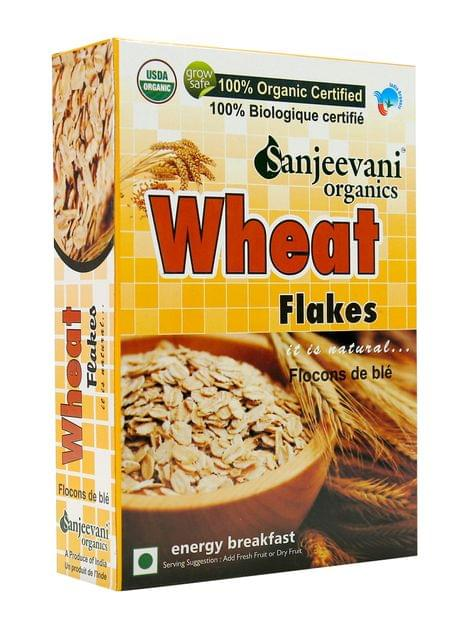 Organic Wheat Flakes 250 Gms