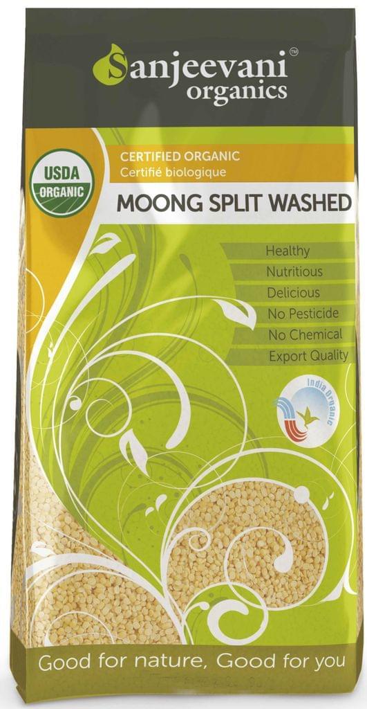 Organic Moong Split Washed 1000 Gms