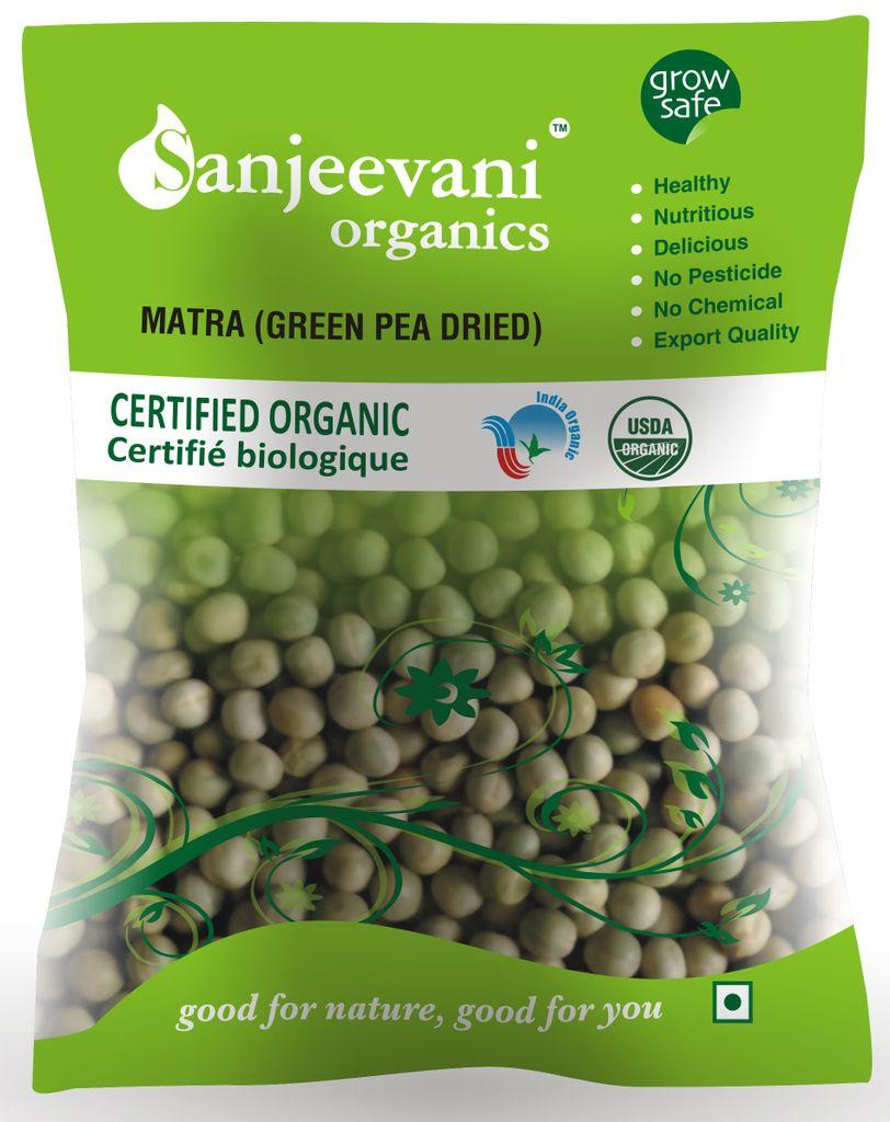 Organic Mattra (dried green Pea) 500 Gms