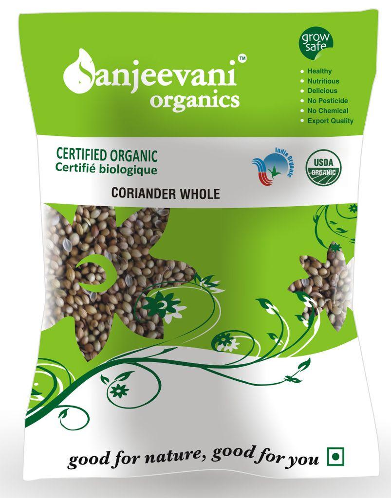 Organic Coriander Whole 100 Gms