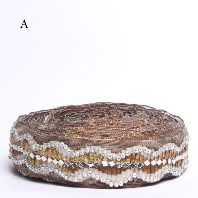 Curves and waves stylish lace/Zari-Pleats-lace/Border-lace/Stones-lace