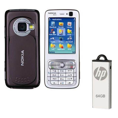Buy Nokia N73 Mobile & 64GB Pendrive