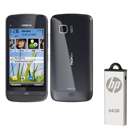 Buy Nokia C5-03 Mobile & 64GB Pendrive