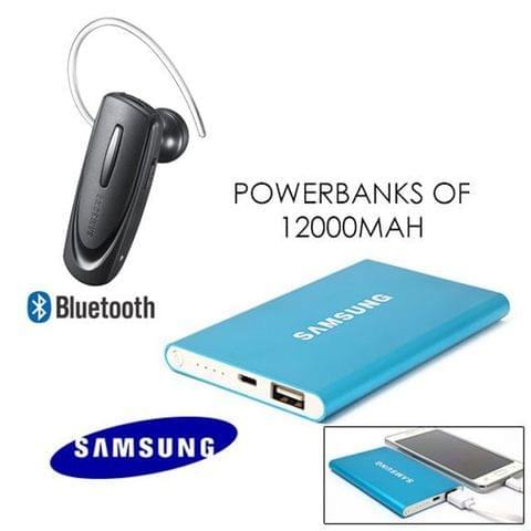 Slim Samsung Power Bank & Bluetooth