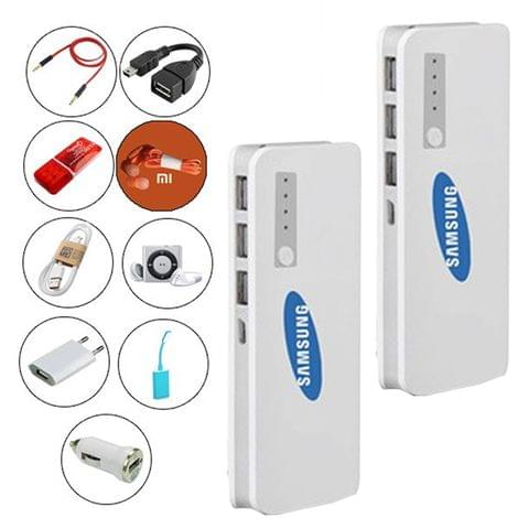 2 Samsung Power Banks 20800 mAh+9 Accessories