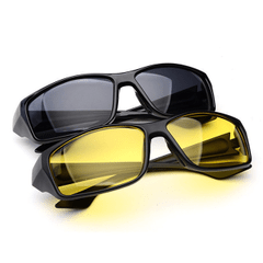 Pack of 2 Night Vision Driving Sunglasses