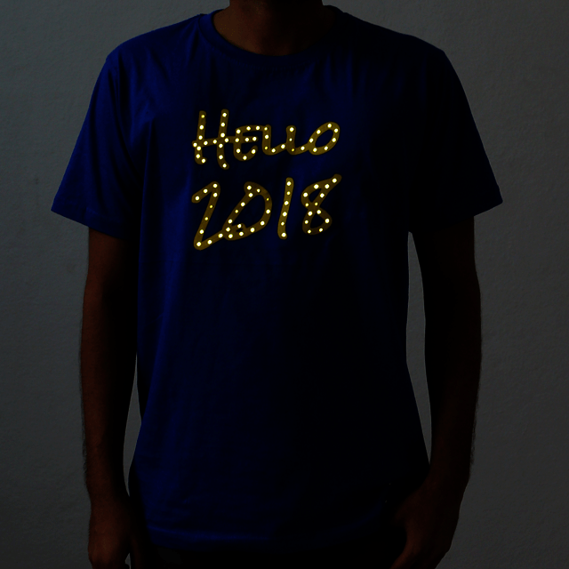 Hello 2018 LED T-Shirt