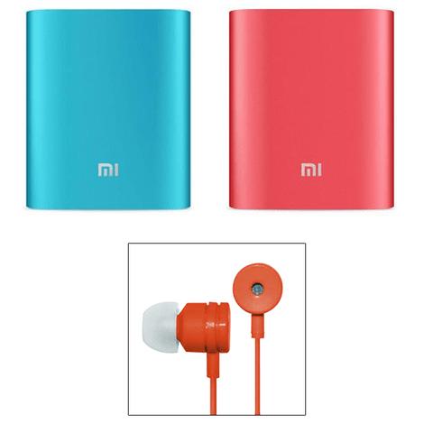 2 MI 10400 Powerbank & MI Earphone