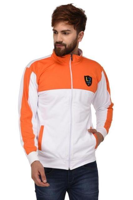 Sports Jacket - White & Orange