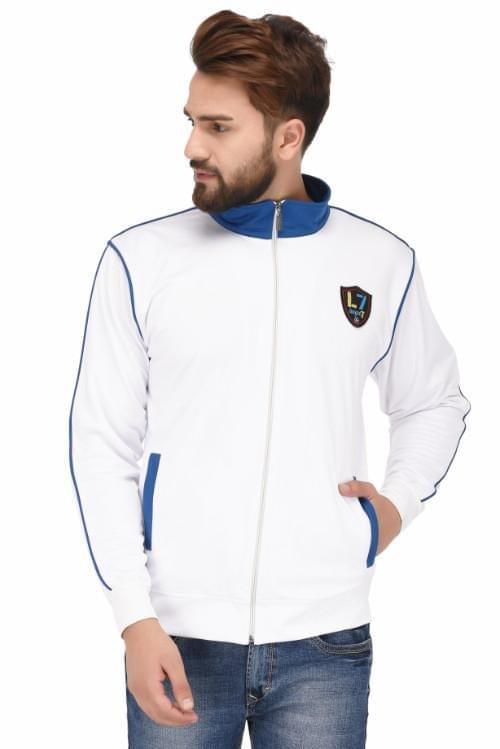 Sports Jacket - White & Blue
