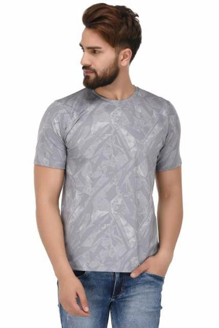 Printed Round Neck T-Shirt_T00032
