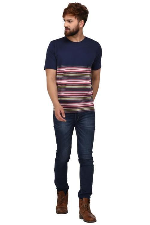 Printed Round Neck T-Shirt_T00034