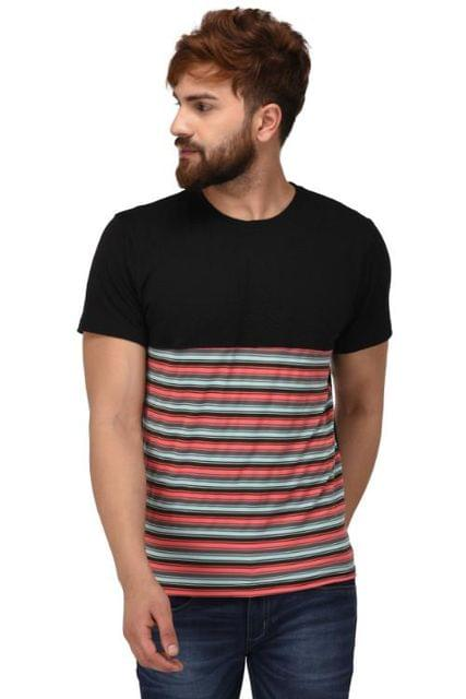 Printed Round Neck T-Shirt_T00035