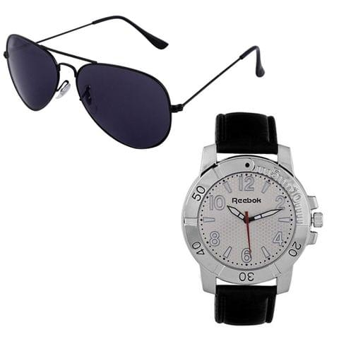 Reebok Aviator Sunglasses & Reebok Core Watch