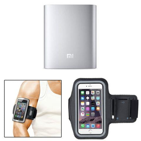 MI 10400 mAh Powerbank + Mobile Holder Arm Belt