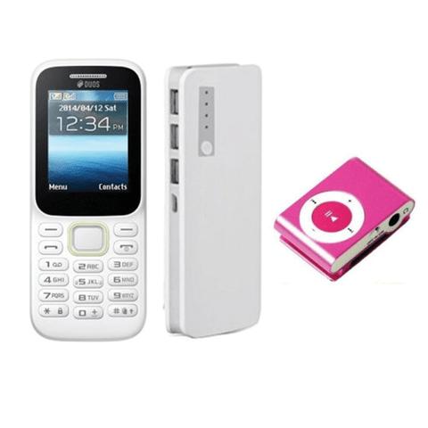 Buy Guru Music 2 Mobile + 20800 mAh Power bank and get free MP3 Player