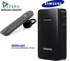 Syska Bluetooth and Samsung 9000 mAh Power Bank