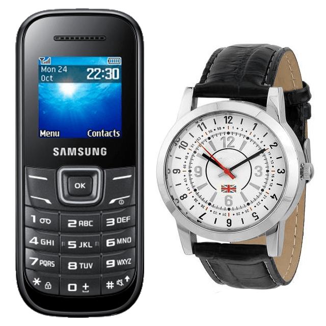 Samsung Guru E-1200 and Reebok Crest Watch