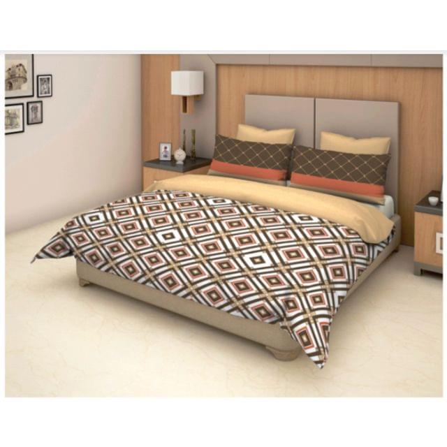 Trident D&D Cotton Double Bedsheet with 2 Pillow Covers