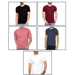 5 Round Neck T-Shirts