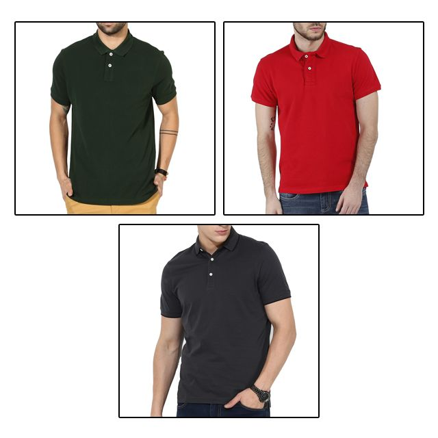 3 Polo T-Shirts