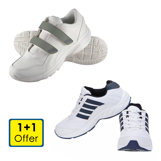 Branded Men's Walking and Running Shoes (1+1 Offer)