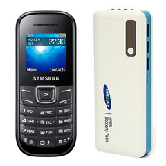 Samsung  Guru 1200 Mobile and Samsung 25000mAh Power Bank