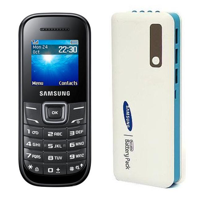 Samsung  Guru 1200 Mobile and Samsung 25000mAh Power Bank