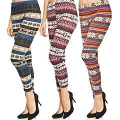3 Printed Leggings