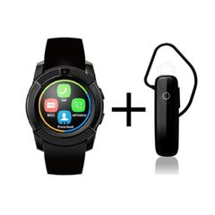 Shoyo V8 Android Smartwatch and Universal Bluetooth Headphone