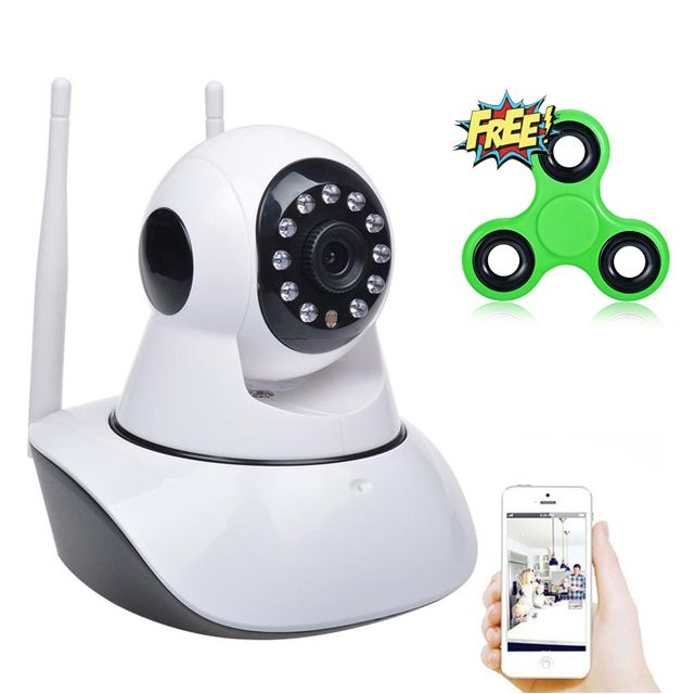 Dual Antenna Wi-Fi IP Smart Camera with Free Fidget Spinner