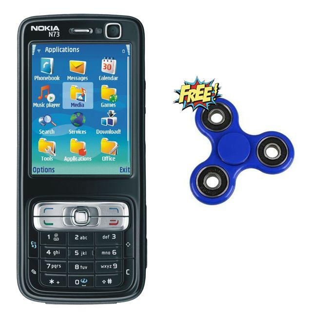 Nokia N73 Refurbished Mobile with Free Fidget Spinner