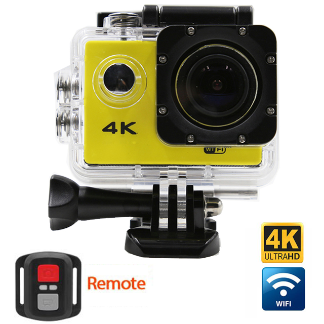 4K Ultra HD Waterproof Action Camera with Wi-Fi and Remote
