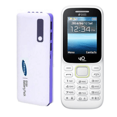 Yo Model 310 4G Mobile with Samsung 20800 mAh Power Bank