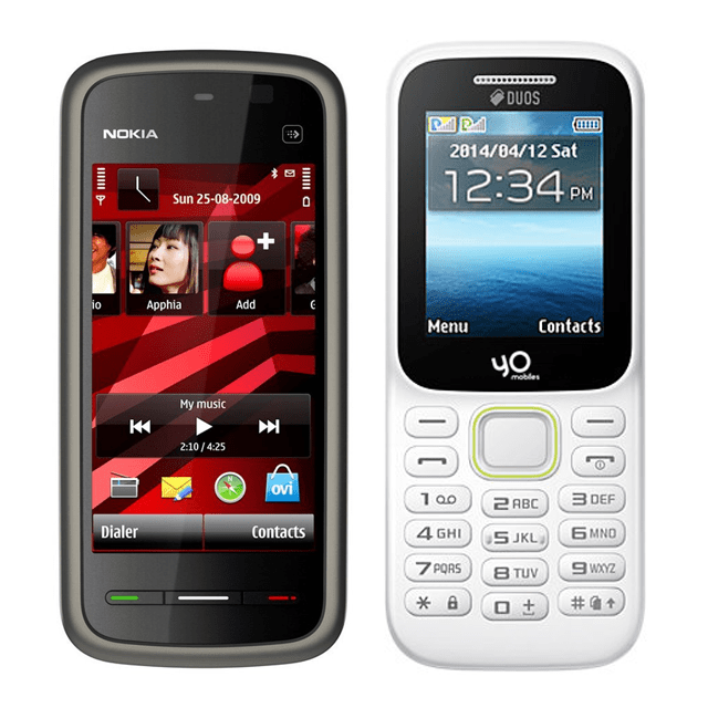 Nokia 5233 Mobile and Yo Model 310 4G Mobile
