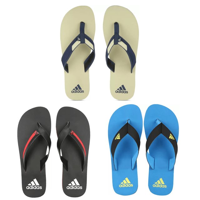Adidas Flip Flops (Pack of 3)