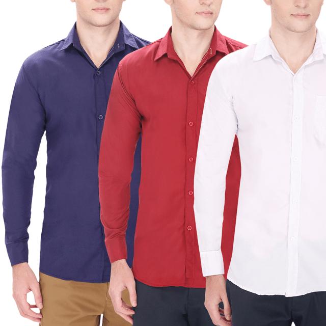 3 Casual Shirts (Premium Quality)