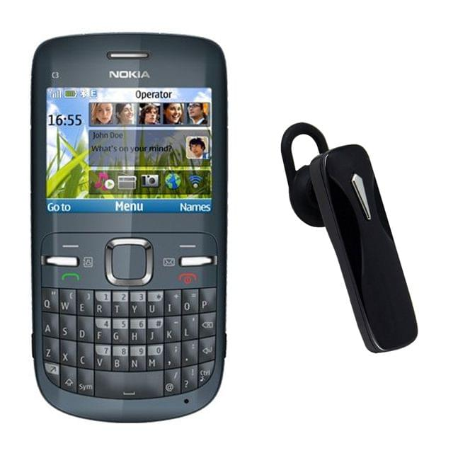 Nokia C3 Refurbished Mobile and Bluetooth