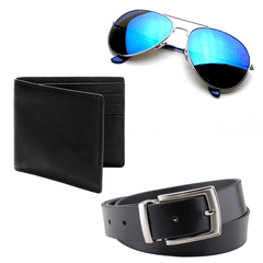 Men Fashion Combo -Belt + Wallet + Sunglasses