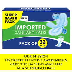Imported Sanitary Pads(32 pcs) at Rs.125