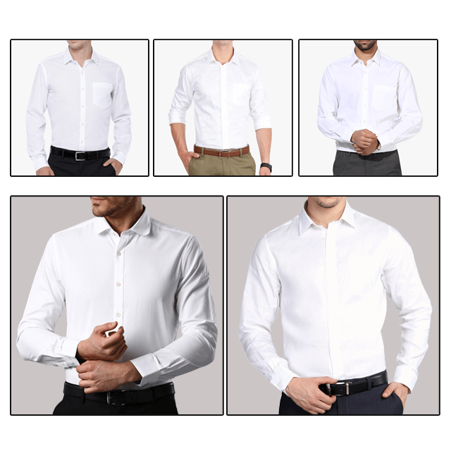 Summer Collection - Set of 5 Classy Cool White Shirts