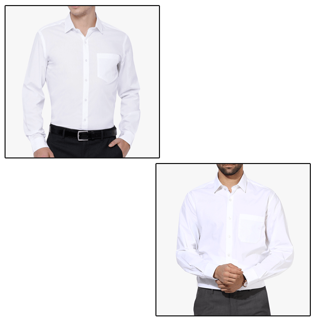 2 White Shirts