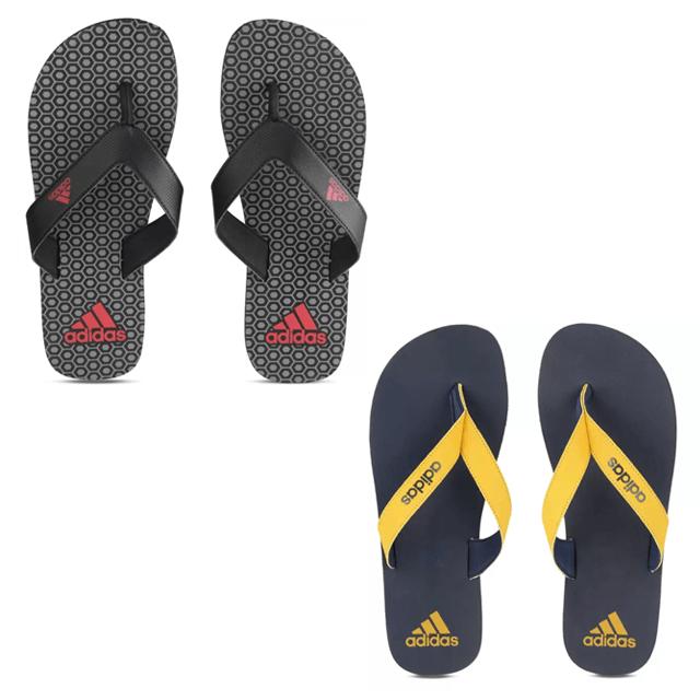 2 Adidas Flip Flops