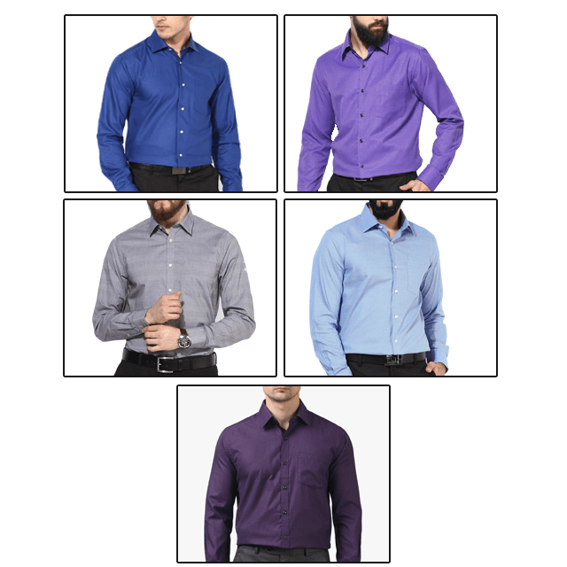 Exclusive Combo of 5 Formal Shirts